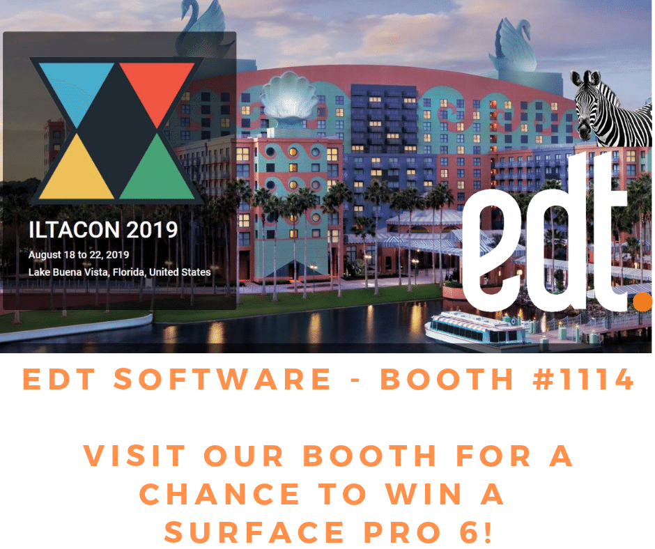 edt software - booth #1114 VISIT OUR BOOTH FOR A CHANCE TO WIN A SURFACE PRO 6!