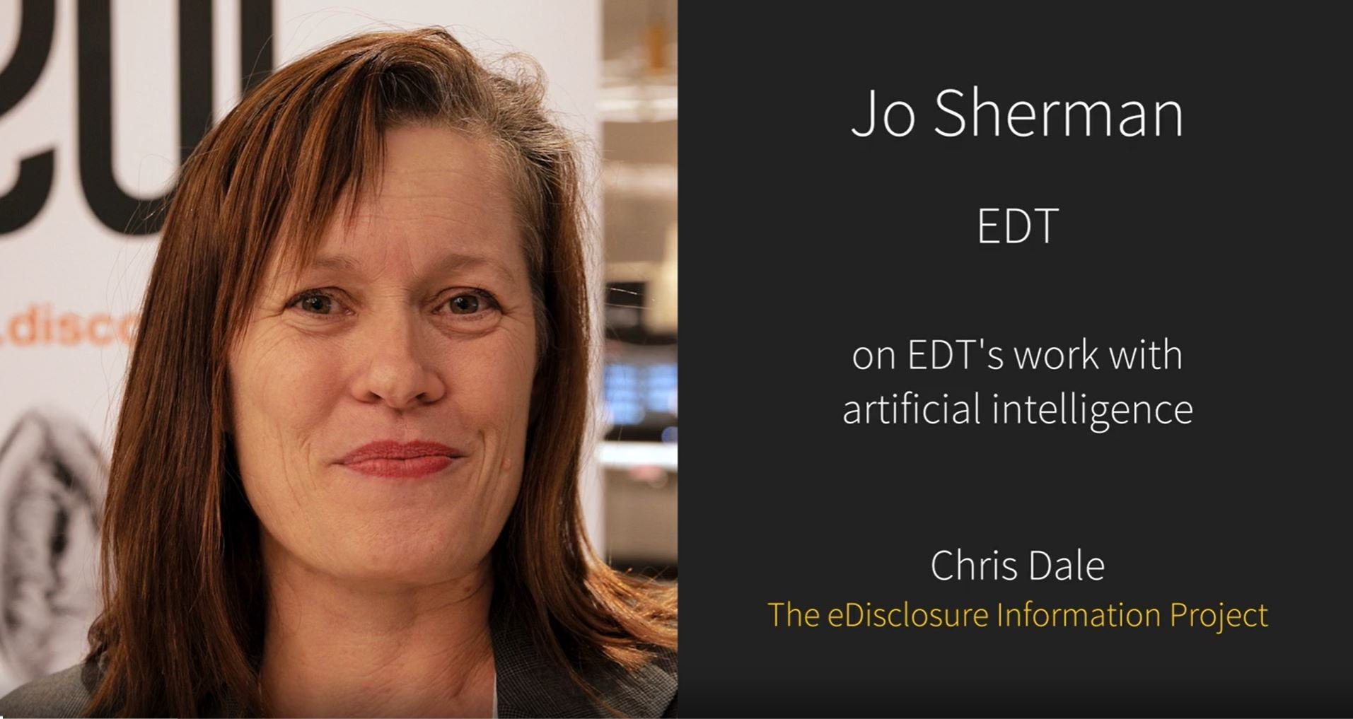 Jo Sherman, Founder and CEO of EDT technology